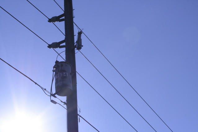 Electrical pole and cables for new construction